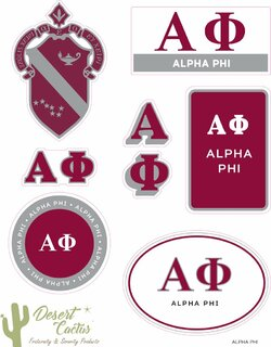 Alpha Phi Traditional Sticker Sheet