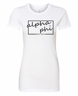Alpha Phi Triblend Short Sleeve Box T-Shirt
