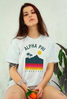 Alpha Phi Tropical Tee - Comfort Colors