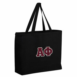 Alpha Phi Twill Canvas Jumbo Tote