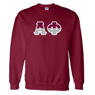 Alpha Phi Two Tone Greek Lettered Crewneck Sweatshirt