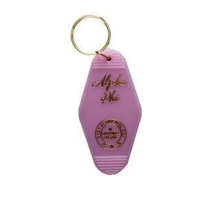 Alpha Phi Vintage Motel Keychain
