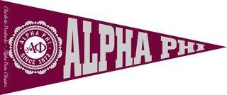 Alpha Phi Wall Pennants