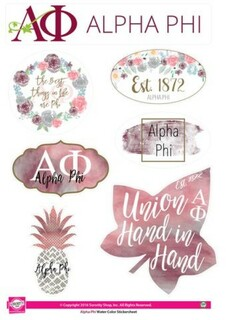 Alpha Phi Water Color Stickers