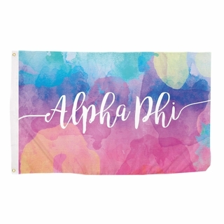 Alpha Phi Watercolor Flag