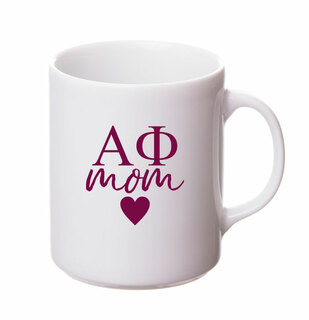 Alpha Phi White Personalized Coffee Mug