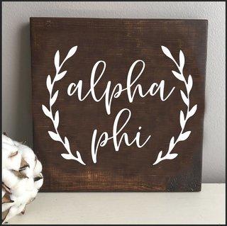 Alpha Phi Wooden Wall Art