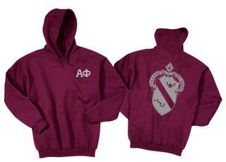 Alpha Phi World Famous Crest Hooded Sweatshirt- $35!