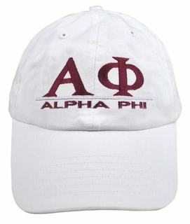 Alpha Phi World Famous Line Hat - MADE FAST!