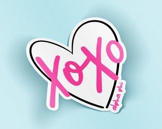 Alpha Phi XOXO Sticker