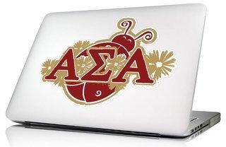 Alpha Sigma Alpha 10 x 8 Laptop Skin/Wall Decal