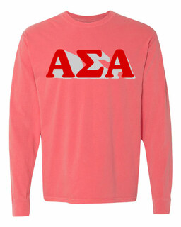 Alpha Sigma Alpha 3 D Greek Long Sleeve T-Shirt - Comfort Colors