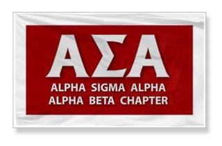 Alpha Sigma Alpha 3 X 5 Flag