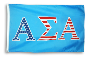 Alpha Sigma Alpha 3 X 5 USA Flag