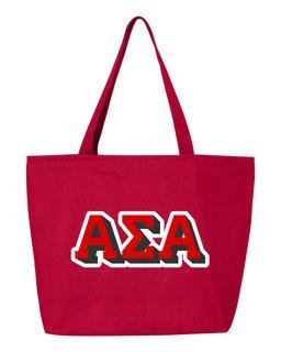 Alpha Sigma Alpha 3D Letter Tote Bag