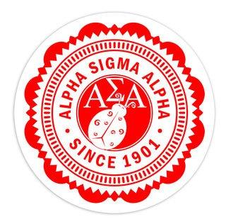 "Alpha Sigma Alpha 5"" Sorority Seal Bumper Sticker"