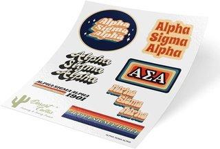 Alpha Sigma Alpha 70's Sticker Sheet