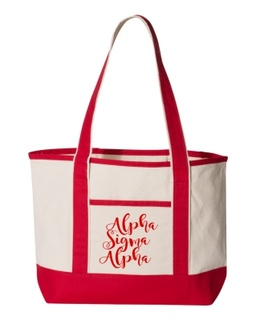 Alpha Sigma Alpha Sailing Tote Bag