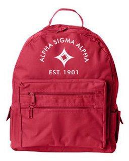 DISCOUNT-Alpha Sigma Alpha Mascot Backpack