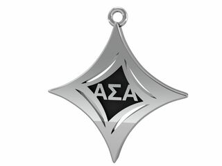 Alpha Sigma Alpha Badge Lavalier