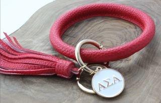 Alpha Sigma Alpha Bangle Keychain