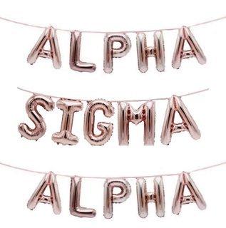 Alpha Sigma Alpha Banner Balloon Set