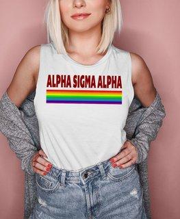 Alpha Sigma Alpha BELLA + CANVAS - Prism Muscle Tank