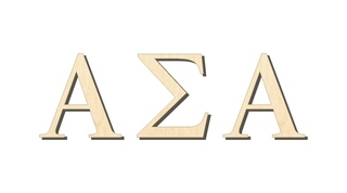 Alpha Sigma Alpha Big Wooden Greek Letters