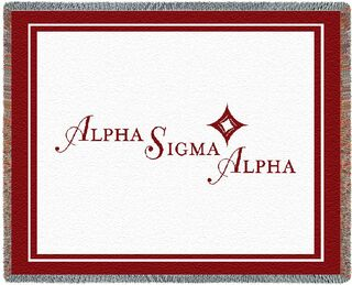 Alpha Sigma Alpha Blanket Throw