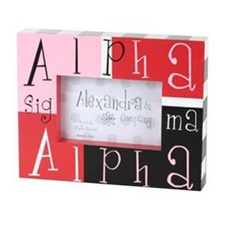 Alpha Sigma Alpha Block Picture Frames