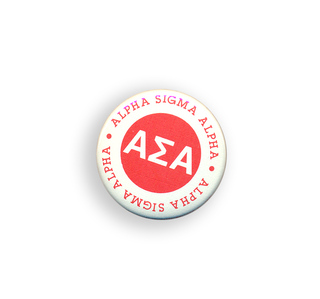 Alpha Sigma Alpha Button Circle