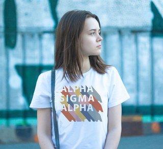 Alpha Sigma Alpha Califonic Tee - Comfort Colors