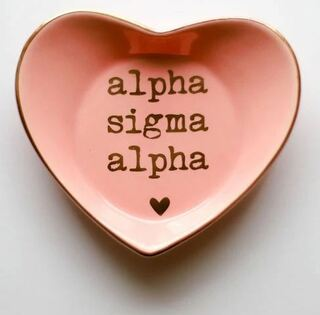 Alpha Sigma Alpha Ceramic Ring Dish