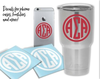 Alpha Sigma Alpha Circle Decal