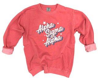 Alpha Sigma Alpha Comfort Colors Flashback Crew