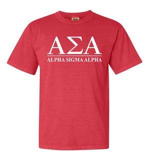 Alpha Sigma Alpha Comfort Colors Heavyweight T-Shirt