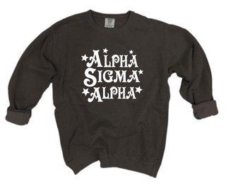 Alpha Sigma Alpha Comfort Colors Old School Custom Crew