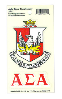 Alpha Sigma Alpha Crest - Shield Decals