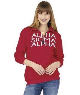 Alpha Sigma Alpha Crosswind Over Zipper Quarter Zipper Sweatshirt