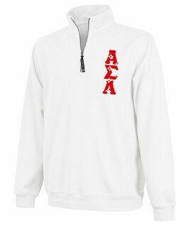 Alpha Sigma Alpha Crosswind Quarter Zip Twill Lettered Sweatshirt
