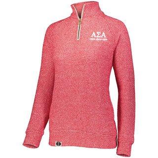 Alpha Sigma Alpha Cuddly 1/4 Zip Pullover