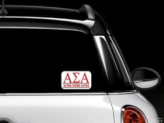 Alpha Sigma Alpha Custom Sticker - Personalized