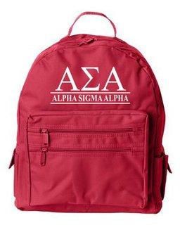 Alpha Sigma Alpha Custom Text Backpack
