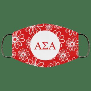Alpha Sigma Alpha Daisies Face Mask