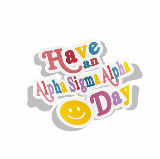 Alpha Sigma Alpha Day Decal Sticker