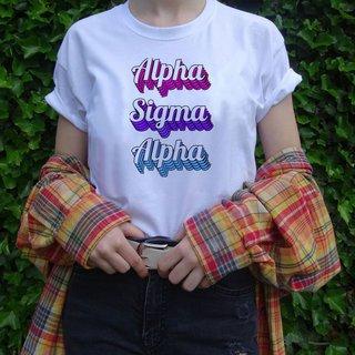Alpha Sigma Alpha Echo Tee - Comfort Colors
