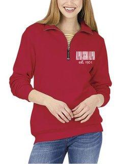 Alpha Sigma Alpha Established Crosswind Quarter Zip Sweatshirt
