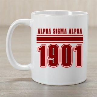 Alpha Sigma Alpha Established Year Coffee Mug - Personalized!