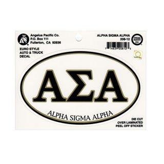 Alpha Sigma Alpha Euro Style Sticker