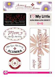 Alpha Sigma Alpha Family Sticker Sheet